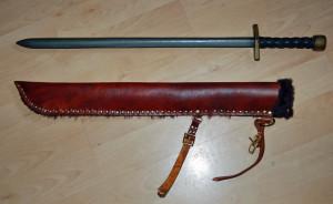 Veg-tan leather scabbard
